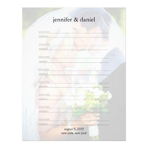 Dirección de la firma alineada casando las páginas membrete personalizado