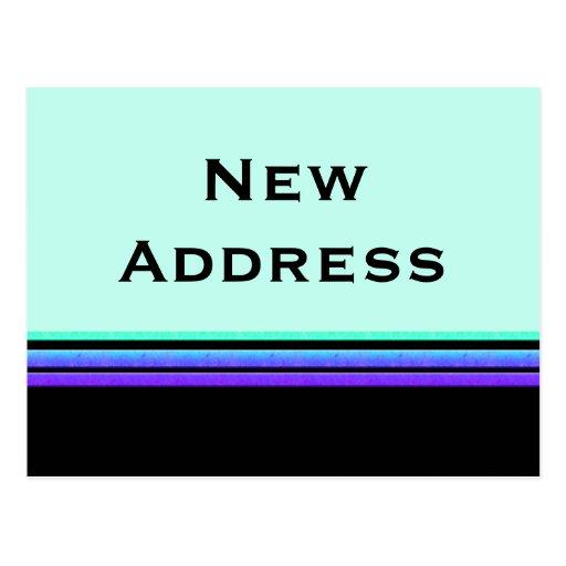 dirección de las rayas púrpuras de la turquesa nue postal