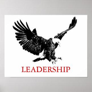 Dirección de motivación Eagle que aterriza el Póster