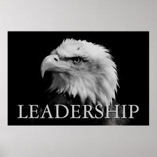 Dirección de motivación negra y blanca Eagle Póster