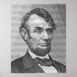Dirección de presidente Lincoln Render w/the Getty Póster