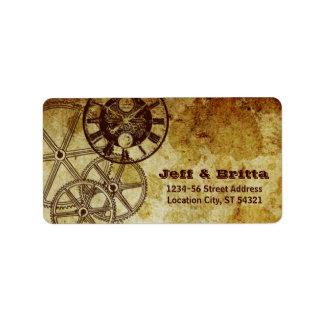 Dirección del boda de Steampunk del Victorian (eng Etiquetas De Dirección