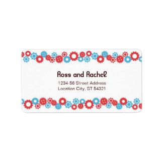 Dirección del boda del amor del robot (engranajes) etiqueta de dirección