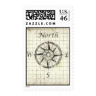 Dirección del compás de North Point - mapa viejo