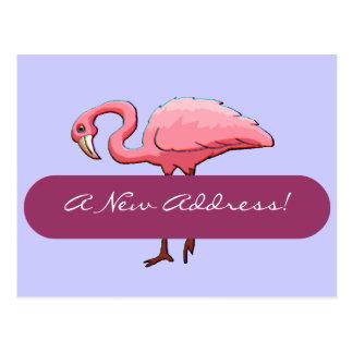 Dirección del flamenco rosado retro de la postal l
