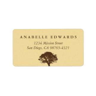 Dirección eterna amarilla del sello del sobre del  etiqueta de dirección