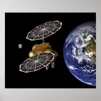 Dirección hacia Marte en arte Póster