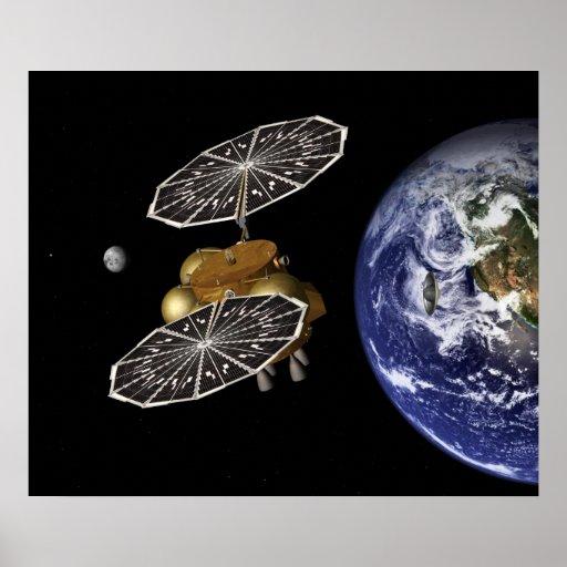 Dirección hacia Marte en arte Poster