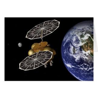 Dirección hacia Marte en arte Tarjeta De Felicitación