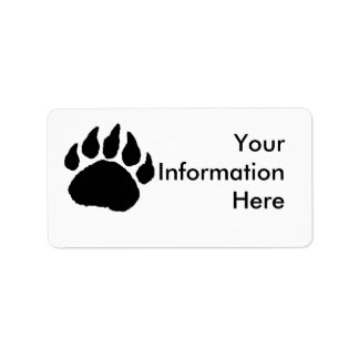 Dirección Lables de la pata de oso Etiqueta De Dirección