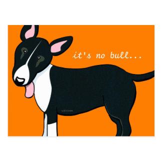 Dirección movida del perro de bull terrier nueva tarjeta postal