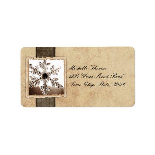 Dirección negra del boda del vintage del copo de n etiquetas de dirección