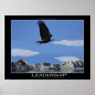 DIRECCIÓN que vuela Eagle y montañas de motivación Póster