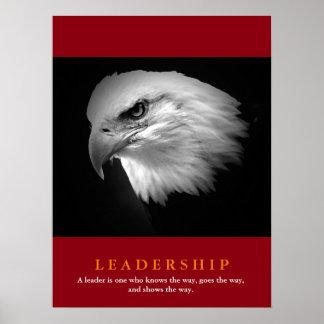 Dirección roja blanca negra de American Eagle Póster