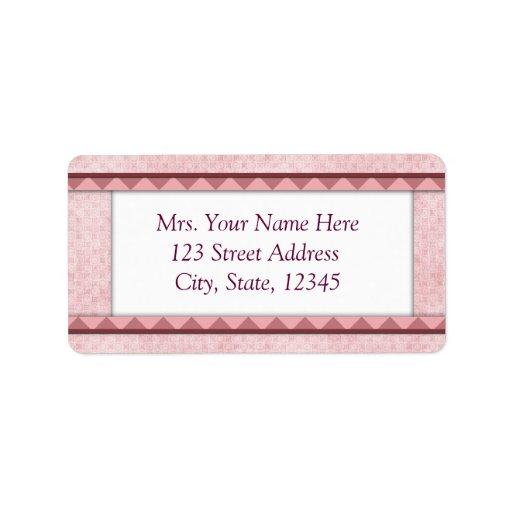 Dirección rosada Lables del bebé Etiquetas De Dirección