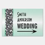 Dirección verde y negra del boda de la cinta de Sw