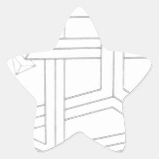 Direccional múltiple pegatina en forma de estrella