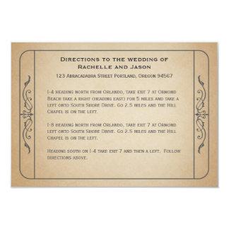 """Direcciones de conducción del boleto del boda del invitación 3.5"""" x 5"""""""