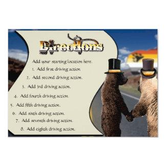 Direcciones de conducción gay del boda o de la invitación 11,4 x 15,8 cm