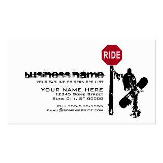 ¿direcciones de la snowboard…? tarjetas de visita
