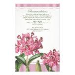 Direcciones rosadas del boda de la orquídea de Cat Papeleria
