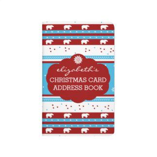 Direcciones rústicas de la tarjeta de Navidad del Cuaderno Grapado