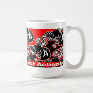 direct action anarchy bees mug