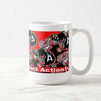 direct action anarchy bees mug