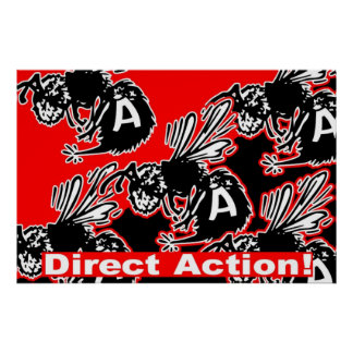 direct action bee poster