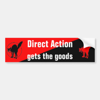 direct action gets the goods bumpersticker bumper sticker