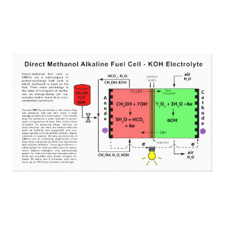 Direct Methanol Alkaline Fuel Cell Diagram Canvas Print