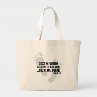 Direct My Footsteps According to Your Word Large Tote Bag