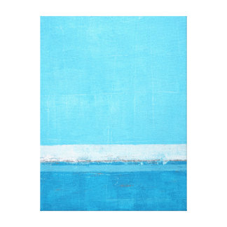 'Direct' Turquoise and grey Abstract Art Canvas Print