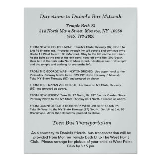 Direction Card