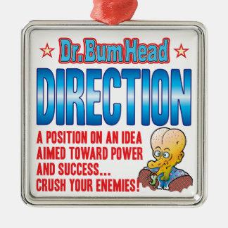 DIRECTION Dr Bum Head Silver-Colored Square Decoration