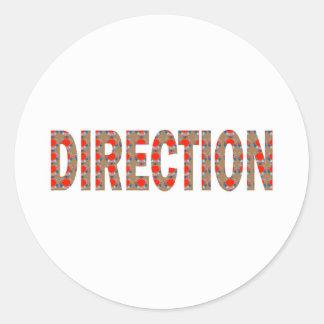 DIRECTION : Guide Coach Mentor Master Teacher GIFT Classic Round Sticker