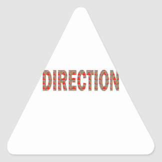 DIRECTION : Guide Coach Mentor Master Teacher GIFT Triangle Sticker