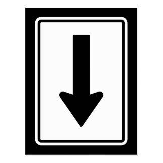 Directional Arrow Left, Traffic Sign, USA Postcard