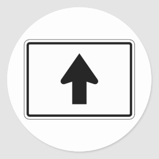 Directional Arrow Up, Traffic Sign, USA Classic Round Sticker