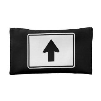 Directional Arrow Up, Traffic Sign, USA Makeup Bag