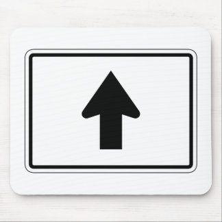 Directional Arrow Up, Traffic Sign, USA Mouse Pad