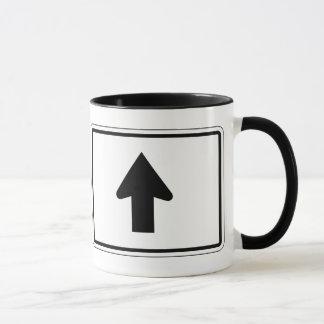 Directional Arrow Up, Traffic Sign, USA Mug