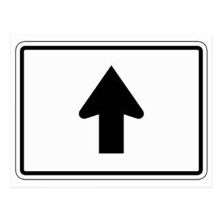 Directional Arrow Up, Traffic Sign, USA Postcard
