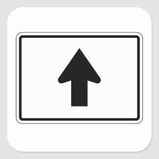 Directional Arrow Up, Traffic Sign, USA Square Sticker