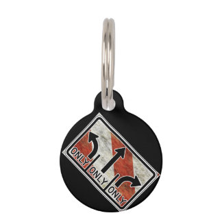 Directional Contradictions Pet ID Tag