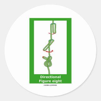 Directional Figure Eight Knotology Sticker