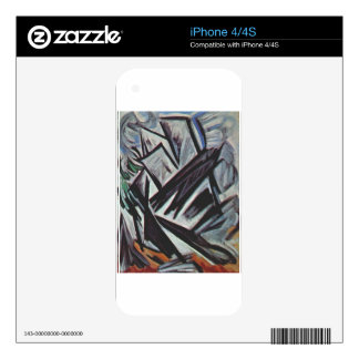 Directional lines by Olga Rozanova Decal For The iPhone 4