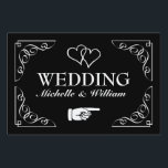 """Directional wedding yard sign 
