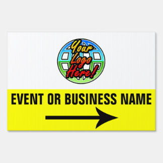 Directional Yard Sign with Full-Color Custom Logo