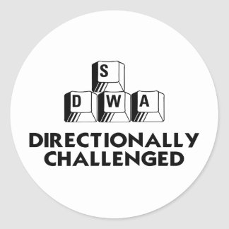 Directionally Challenged Classic Round Sticker